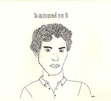 sketch of Bennedict Cumberbatch from sherlock by amelia S-W