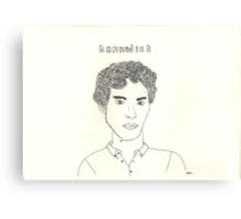 sketch of Bennedict Cumberbatch from sherlock Canvas Print
