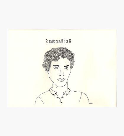 sketch of Bennedict Cumberbatch from sherlock Photographic Print