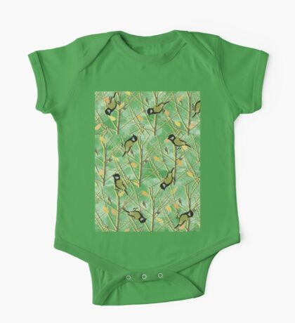 Birds and trees One Piece - Short Sleeve
