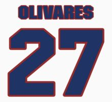 National baseball player Omar Olivares jersey 27 by imsport