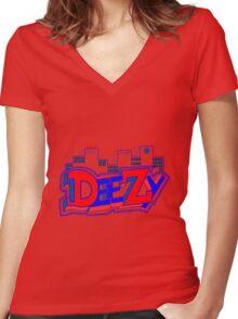 DeeZy City Women's Fitted V-Neck T-Shirt