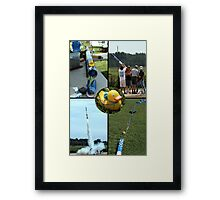 Ducky's Wild Ride Framed Print