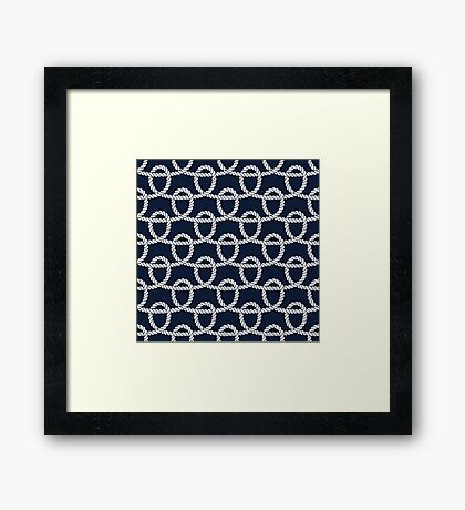 Marine rope loops pattern Framed Print