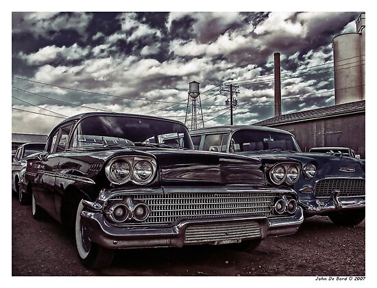 Nothin' But Sky and Chevy's by John  De Bord Photography