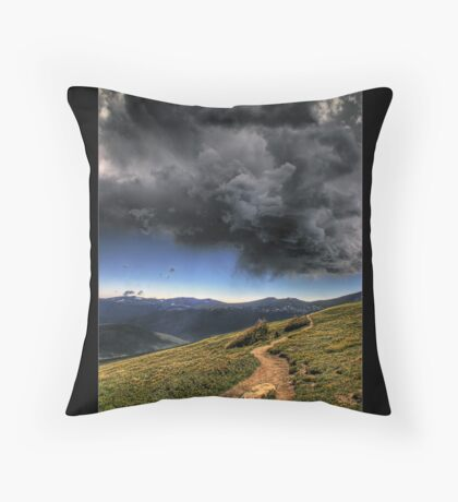 Mountain Thunder Throw Pillow