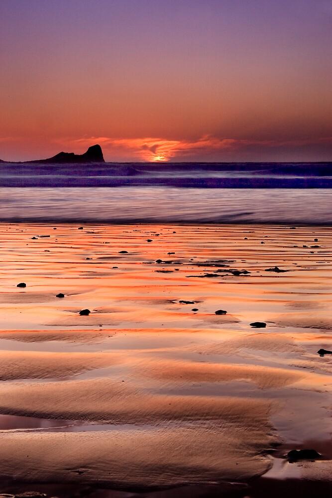 Gower Sunset II by Alex Clark
