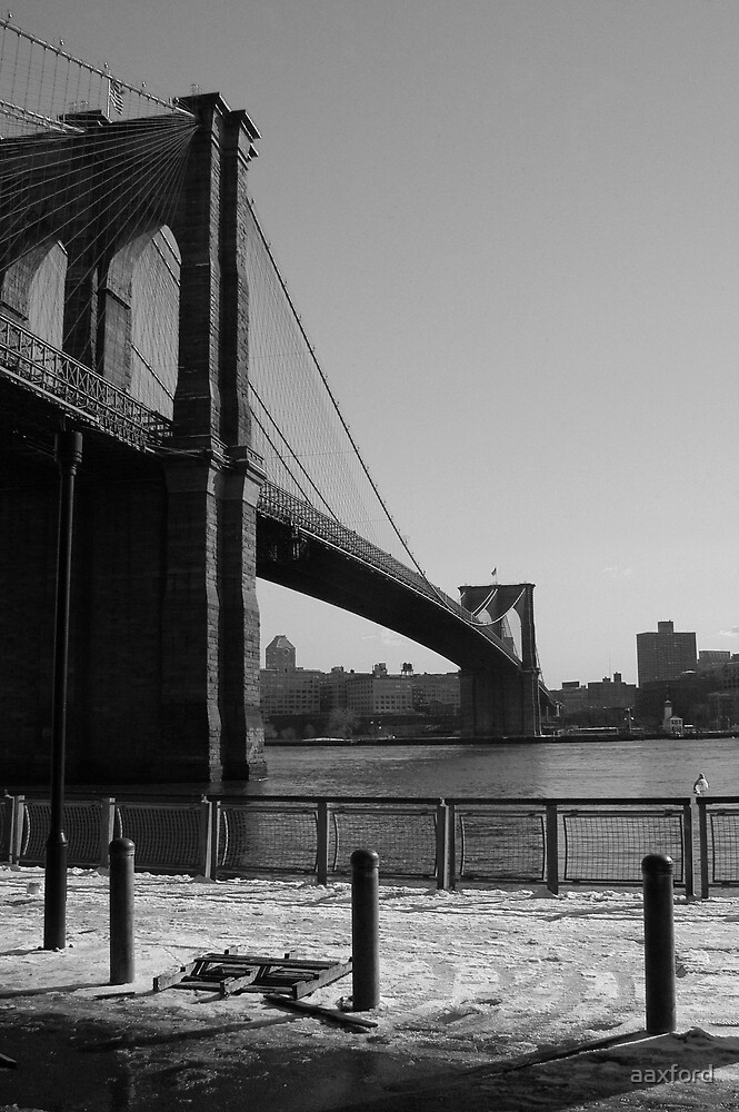Brooklyn Bridge, New York by aaxford