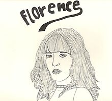 sketch of Florence from Florence + the machine by amelia S-W