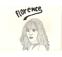 sketch of Florence from Florence + the machine Photographic Print