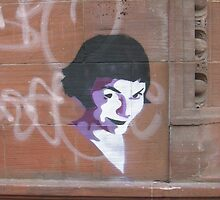 Amelie Stencil art on sandstone, now on iPhone and iPod by DarthSpader