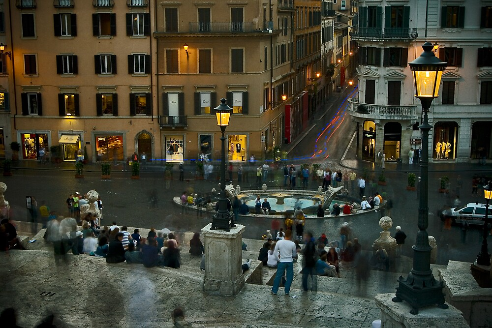 Spanish Steps at Dusk by Michael Mancini