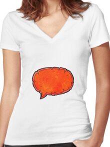 comic book speech bubble cartoon Women's Fitted V-Neck T-Shirt