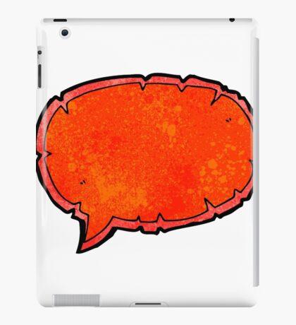 comic book speech bubble cartoon iPad Case/Skin