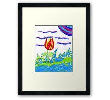 Magical Colors Framed Print