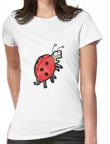 cartoon ladybug Womens Fitted T-Shirt