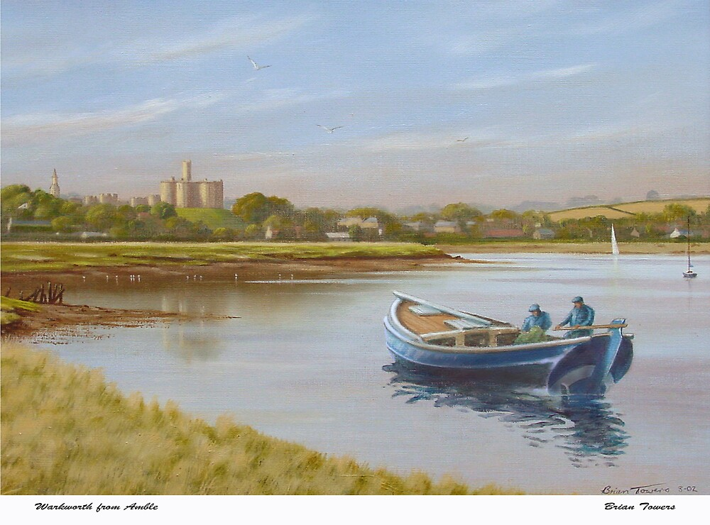 Warkworth from Amble by Brian Towers