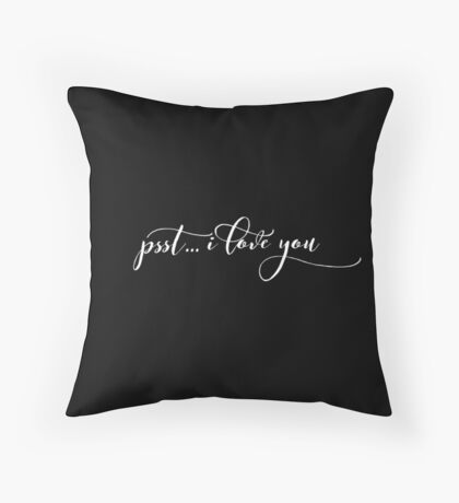 Cute I Love You - Best Gift for Him, Her, Boyfriend, Girlfriend, Husband, Wife, Couples, Men, Women, Mom, Dad, Grandma, Brother or Friends Throw Pillow