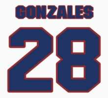 National baseball player Rene Gonzales jersey 28 by imsport