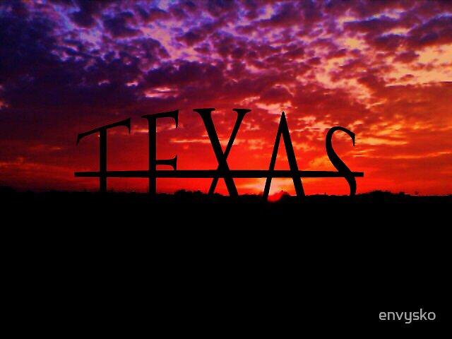 texas under sunset by envysko