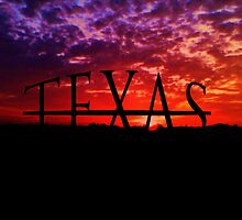 texas under sunset by envysko