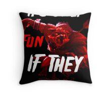 Run For Your Life Throw Pillow