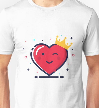 Heart with crown Unisex T-Shirt