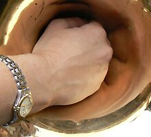 GIRLS  HAND UP A  FRENCH HORN by Rexcharles
