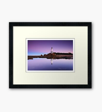 Reflections of Point Lonsdale Lighthouse Framed Print