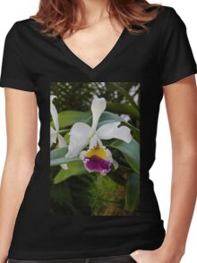 Off to Naples Women's Fitted V-Neck T-Shirt