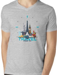 Time to travel Mens V-Neck T-Shirt