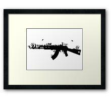 Ak47 Love & Peace Framed Print