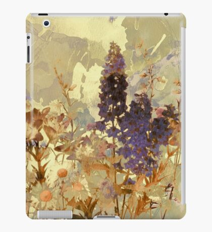 floral sur beige/floral on beige iPad Case/Skin