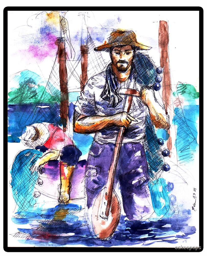 fisherman by oskeepops