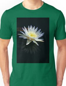 White Water Lily- vertical Unisex T-Shirt