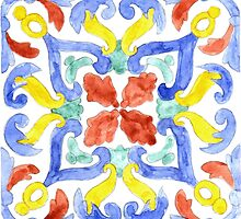 Talavera Tile 96 by James J. Barnett