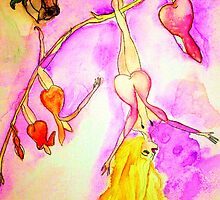 Fantasy Fairy Watercolor Art by Allyson Kitts