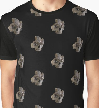 Broken Skull Pattern Graphic T-Shirt
