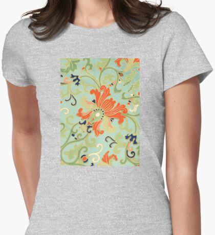 Cute Happy Summer Floral Abstract pattern Art - Vintage Asian Patterns Womens Fitted T-Shirt