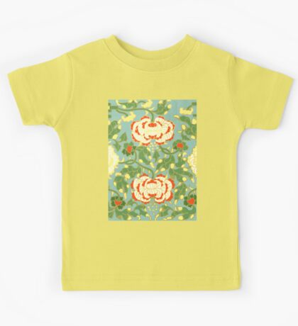 Happy Summer Floral Abstract Pattern Art - Cute Vintage Asian Patterns Drawings Kids Tee