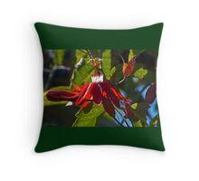 Mary Jane Passiflora Throw Pillow