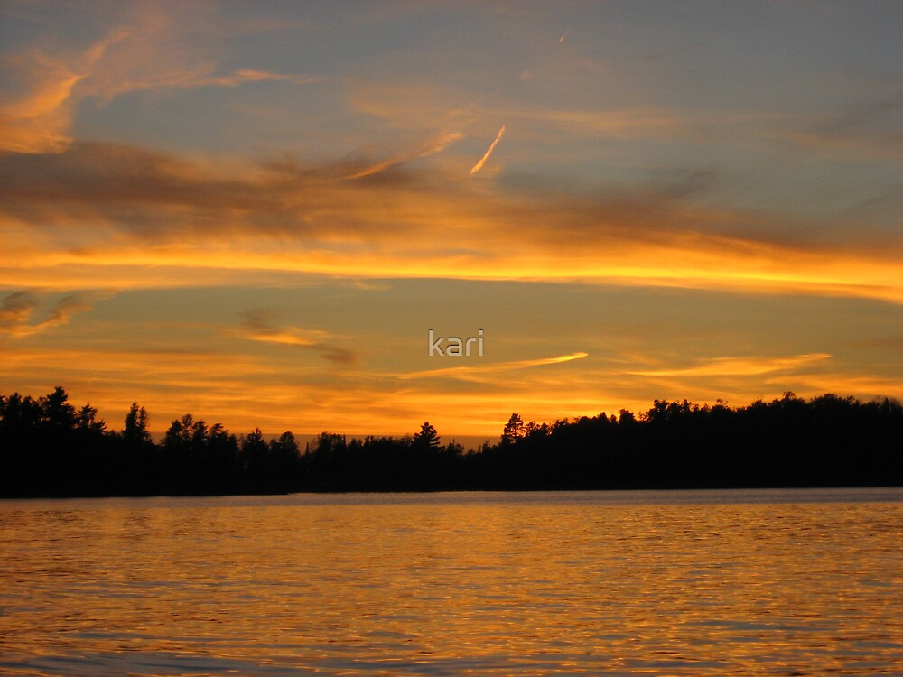 Sunset on Rainy by kari