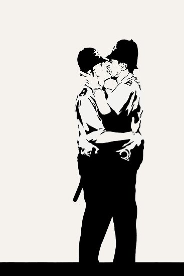Kissing Coppers by Irina Chuckowree