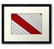 Abstract - red, white, grey Framed Print