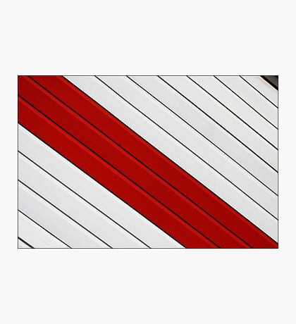 Abstract - red, white, grey Photographic Print