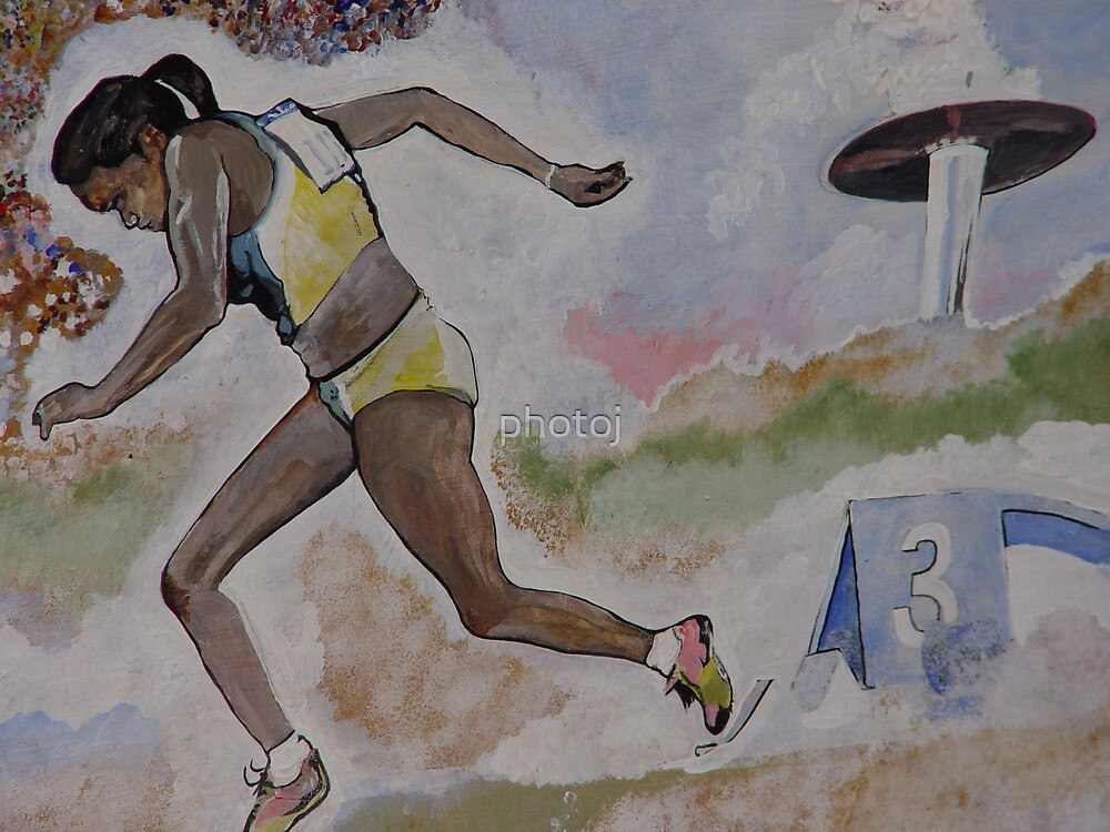 photoj  Australia's 'Cathy Freeman' Art by photoj