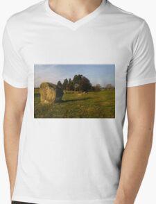 Long Meg Stone Circle Mens V-Neck T-Shirt
