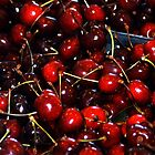 Deep Red Cherries by Maria A. Barnowl