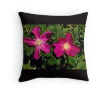 Deep Pink Country Rose Throw Pillow