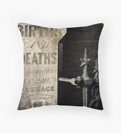 Births & Deaths Throw Pillow